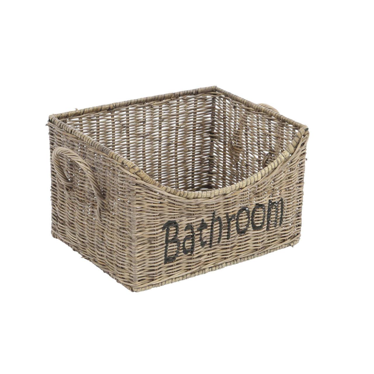 Badezimmerkorb Aufbewahrungsbox Rattan 20cm by Sweet Home & Kids